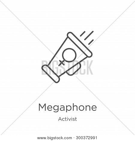 Megaphone Icon Isolated On White Background From Activist Collection. Megaphone Icon Trendy And Mode