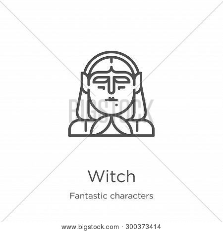Witch Icon Isolated On White Background From Fantastic Characters Collection. Witch Icon Trendy And