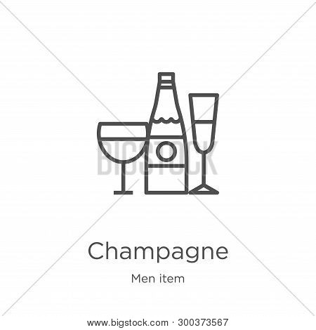 Champagne Icon Isolated On White Background From Men Item Collection. Champagne Icon Trendy And Mode