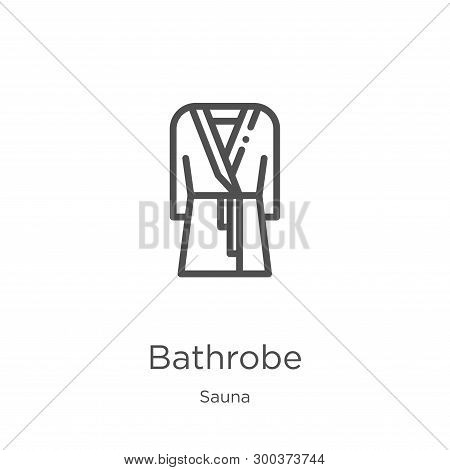 Bathrobe Icon Isolated On White Background From Sauna Collection. Bathrobe Icon Trendy And Modern Ba