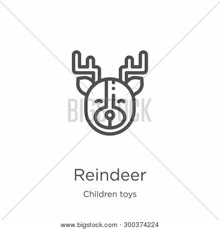 Reindeer Icon Isolated On White Background From Children Toys Collection. Reindeer Icon Trendy And M