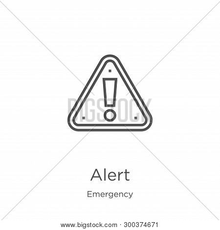 Alert Icon Isolated On White Background From Emergency Collection. Alert Icon Trendy And Modern Aler