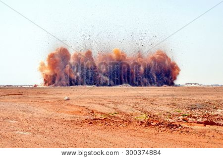 Rock Particle And Dust Clouds Of The Detonator Serial Blasting