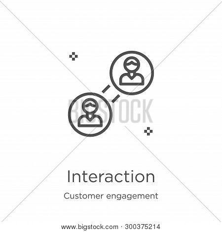 Interaction Icon Isolated On White Background From Customer Engagement Collection. Interaction Icon
