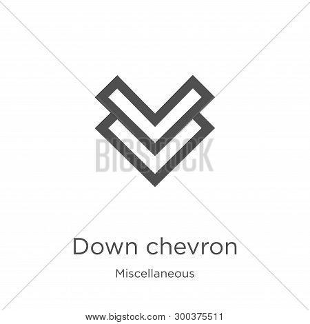 Down Chevron Icon Isolated On White Background From Miscellaneous Collection. Down Chevron Icon Tren