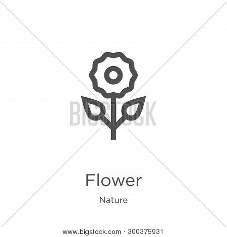 Flower Icon Isolated On White Background From Nature Collection. Flower Icon Trendy And Modern Flowe