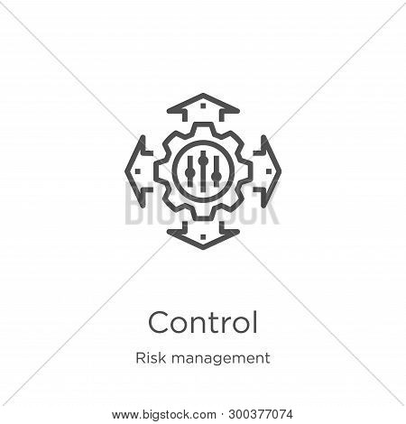 Control Icon Isolated On White Background From Risk Management Collection. Control Icon Trendy And M