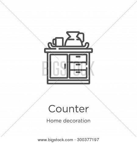 Counter Icon Isolated On White Background From Home Decoration Collection. Counter Icon Trendy And M