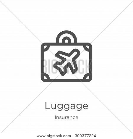 Luggage Icon Isolated On White Background From Insurance Collection. Luggage Icon Trendy And Modern