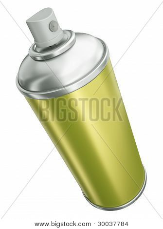 Yellow spray can