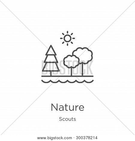 Nature Icon Isolated On White Background From Scouts Collection. Nature Icon Trendy And Modern Natur