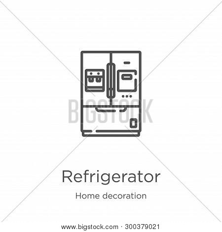 Refrigerator Icon Isolated On White Background From Home Decoration Collection. Refrigerator Icon Tr
