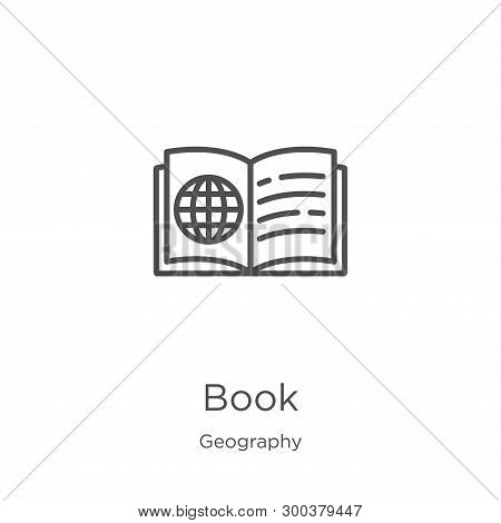 Book Icon Isolated On White Background From Geography Collection. Book Icon Trendy And Modern Book S