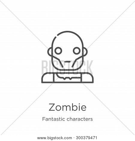 Zombie Icon Isolated On White Background From Fantastic Characters Collection. Zombie Icon Trendy An