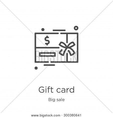 Gift Card Icon Isolated On White Background From Big Sale Collection. Gift Card Icon Trendy And Mode