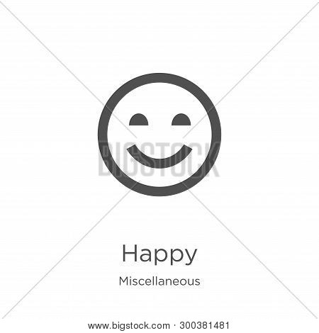 Happy Icon Isolated On White Background From Miscellaneous Collection. Happy Icon Trendy And Modern