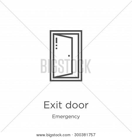 Exit Door Icon Isolated On White Background From Emergency Collection. Exit Door Icon Trendy And Mod