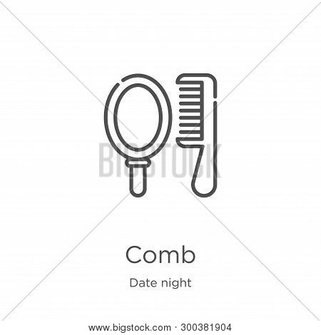 Comb Icon Isolated On White Background From Date Night Collection. Comb Icon Trendy And Modern Comb