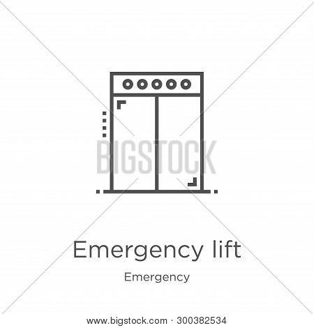 Emergency Lift Icon Isolated On White Background From Emergency Collection. Emergency Lift Icon Tren