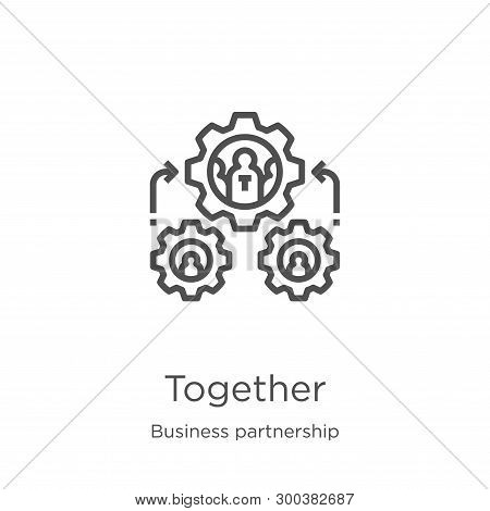 Together Icon Isolated On White Background From Business Partnership Collection. Together Icon Trend