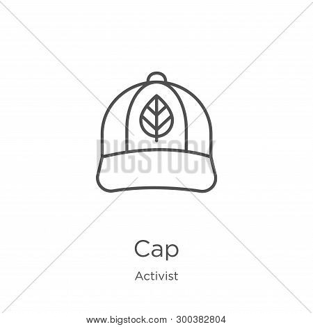 Cap Icon Isolated On White Background From Activist Collection. Cap Icon Trendy And Modern Cap Symbo