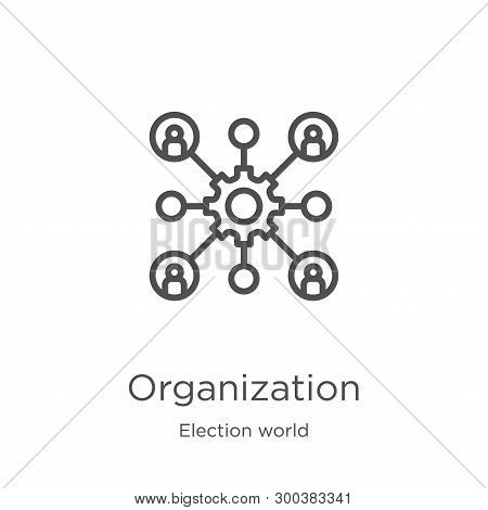 Organization Icon Isolated On White Background From Election World Collection. Organization Icon Tre