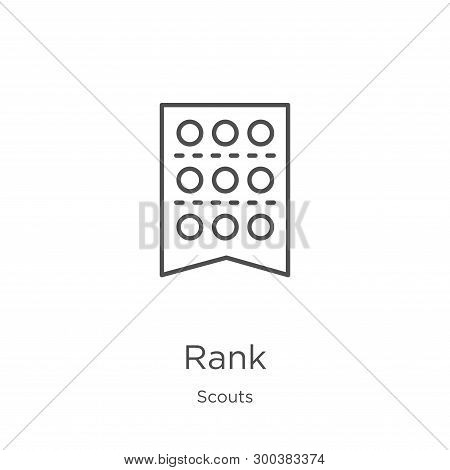 Rank Icon Isolated On White Background From Scouts Collection. Rank Icon Trendy And Modern Rank Symb