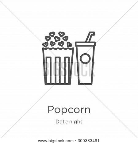 Popcorn Icon Isolated On White Background From Date Night Collection. Popcorn Icon Trendy And Modern