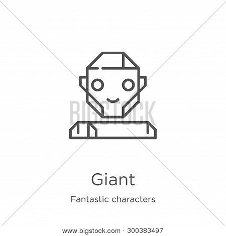 Giant Icon Isolated On White Background From Fantastic Characters Collection. Giant Icon Trendy And
