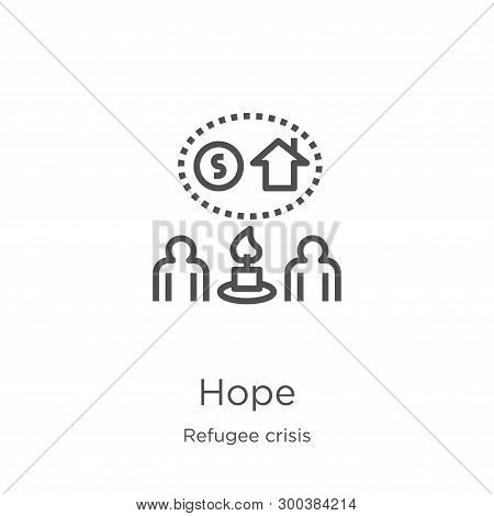Hope Icon Isolated On White Background From Refugee Crisis Collection. Hope Icon Trendy And Modern H
