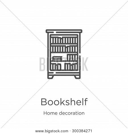 Bookshelf Icon Isolated On White Background From Home Decoration Collection. Bookshelf Icon Trendy A