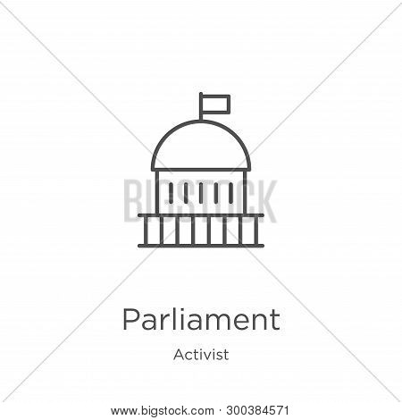 Parliament Icon Isolated On White Background From Activist Collection. Parliament Icon Trendy And Mo