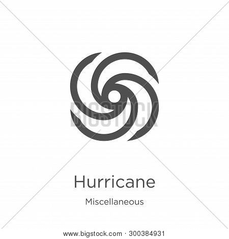 Hurricane Icon Isolated On White Background From Miscellaneous Collection. Hurricane Icon Trendy And