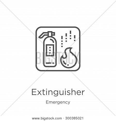 Extinguisher Icon Isolated On White Background From Emergency Collection. Extinguisher Icon Trendy A