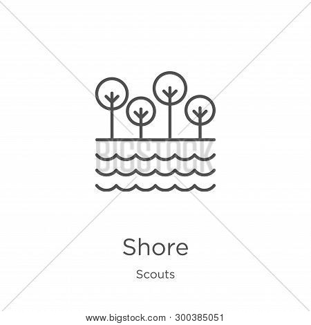 Shore Icon Isolated On White Background From Scouts Collection. Shore Icon Trendy And Modern Shore S