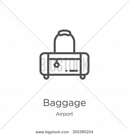 Baggage Icon Isolated On White Background From Airport Collection. Baggage Icon Trendy And Modern Ba
