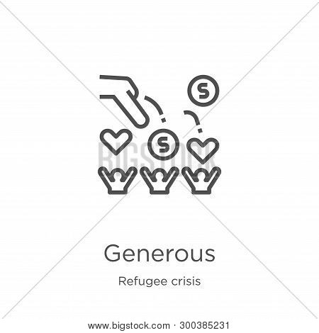 Generous Icon Isolated On White Background From Refugee Crisis Collection. Generous Icon Trendy And