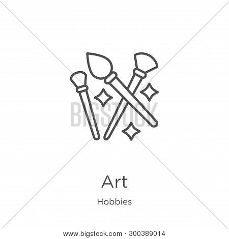 Art Icon Isolated On White Background From Hobbies Collection. Art Icon Trendy And Modern Art Symbol