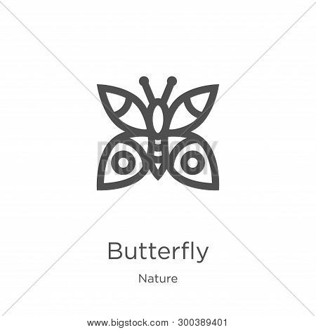 Butterfly Icon Isolated On White Background From Nature Collection. Butterfly Icon Trendy And Modern