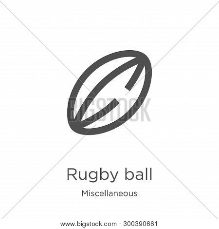 Rugby Ball Icon Isolated On White Background From Miscellaneous Collection. Rugby Ball Icon Trendy A