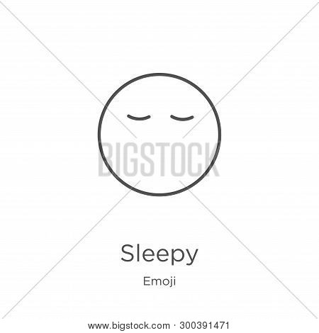 Sleepy Icon Isolated On White Background From Emoji Collection. Sleepy Icon Trendy And Modern Sleepy