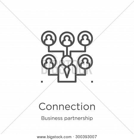 Connection Icon Isolated On White Background From Business Partnership Collection. Connection Icon T