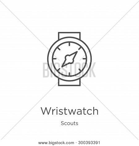 Wristwatch Icon Isolated On White Background From Scouts Collection. Wristwatch Icon Trendy And Mode