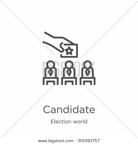 Candidate Icon Isolated On White Background From Election World Collection. Candidate Icon Trendy An