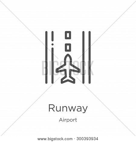 Runway Icon Isolated On White Background From Airport Collection. Runway Icon Trendy And Modern Runw