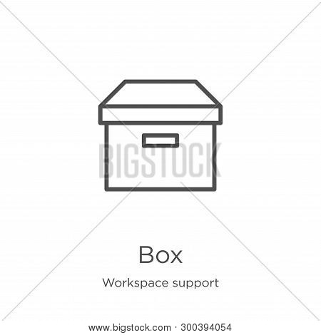 Box Icon Isolated On White Background From Workspace Support Collection. Box Icon Trendy And Modern