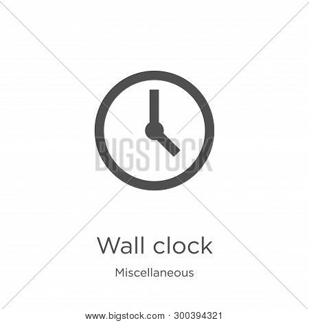 Wall Clock Icon Isolated On White Background From Miscellaneous Collection. Wall Clock Icon Trendy A