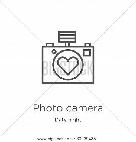 Photo Camera Icon Isolated On White Background From Date Night Collection. Photo Camera Icon Trendy
