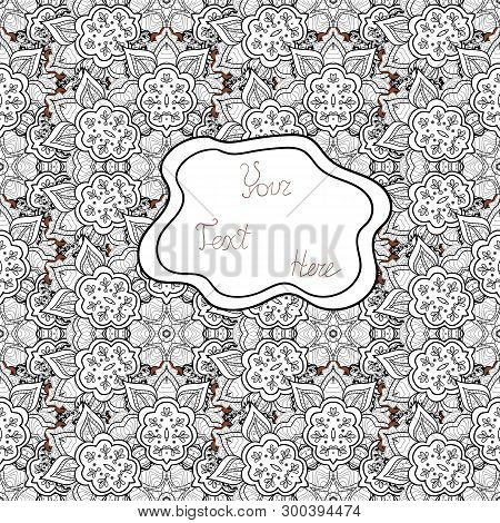 Vector. Doodles Gray, White And Black On Colors. Seamless Beautiful Fabric Pattern.