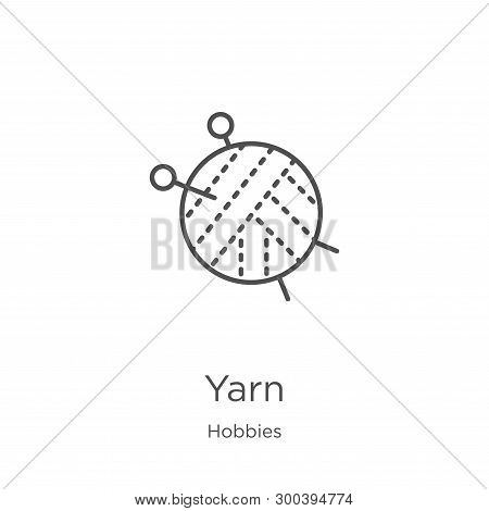 Yarn Icon Isolated On White Background From Hobbies Collection. Yarn Icon Trendy And Modern Yarn Sym